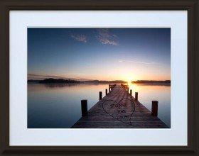 Bild - Sonnenuntergang mit Herz