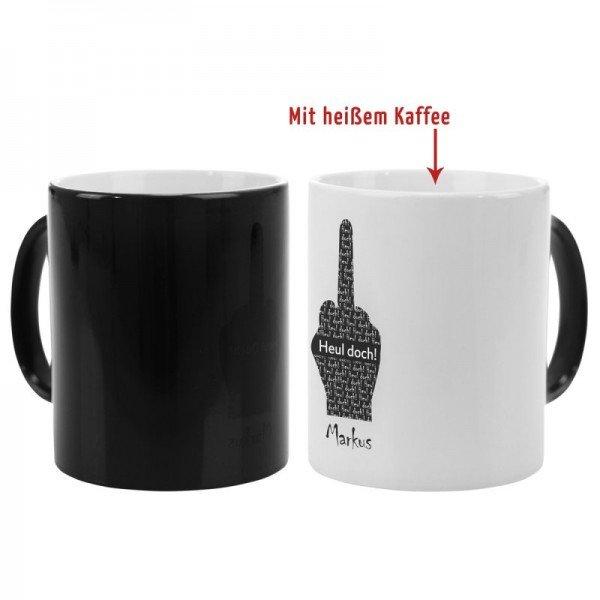 Schwarze Magic Tasse - Fuck you