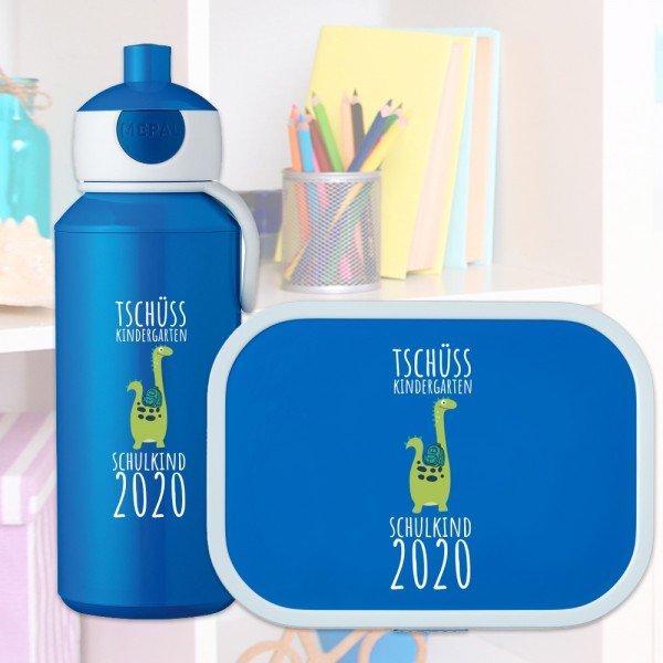 - Tschüss Kindergarten Brotdose und Trinkflasche mit Dino - Onlineshop Geschenke24