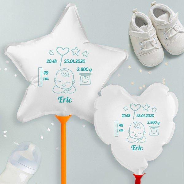Luftballon mit Stab zur Geburt