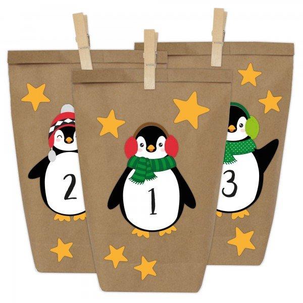 Adventskalender zum Befüllen - Pinguin