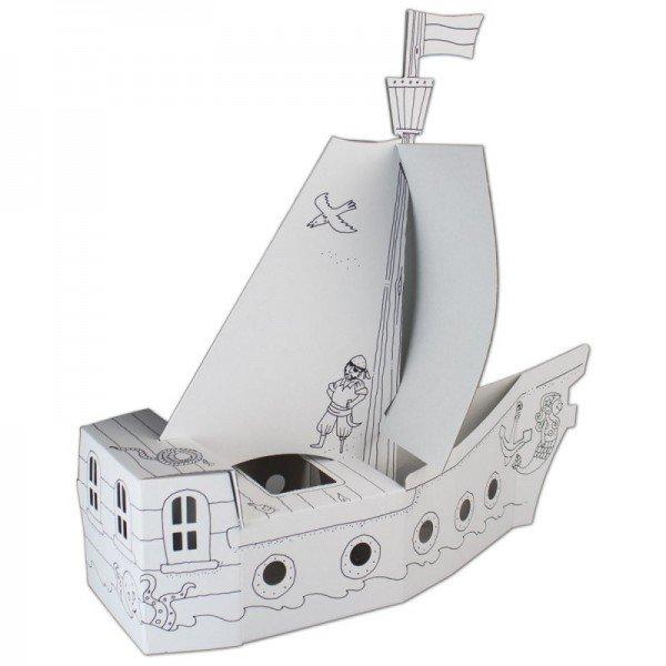 Bastelset - Piratenschiff aus Pappe