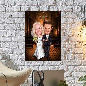 Karikatur von Deinem Foto - Hochzeitsportrait