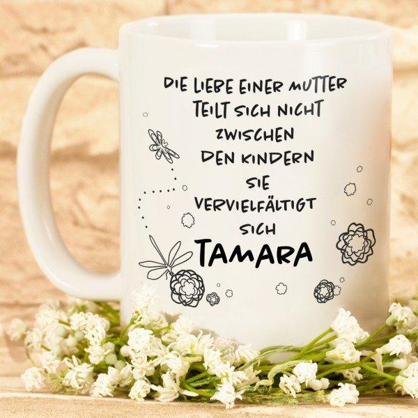 Tasse - Die Liebe einer Mutter mit Personalisierung