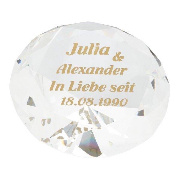 Diamant mit Goldgravur
