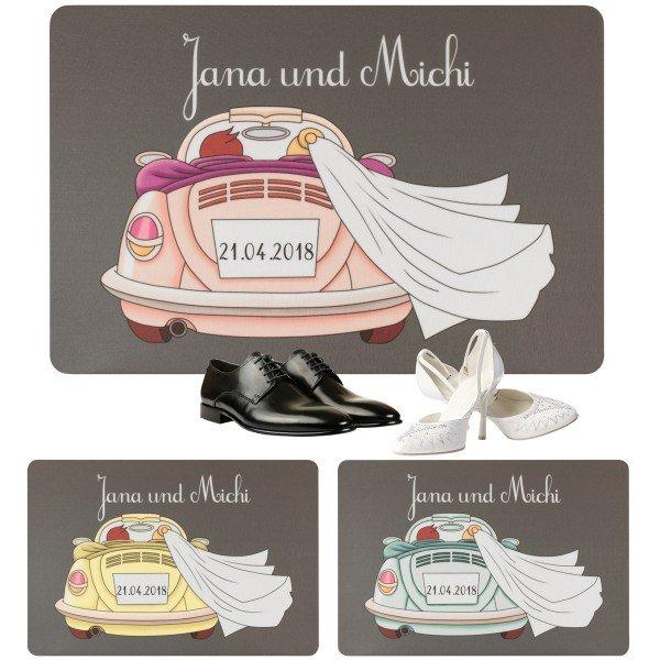 Persönliche Fußmatte zur Hochzeit