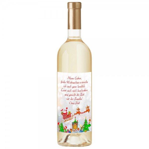 Weinflasche - Weihnachten mit Personalisierung