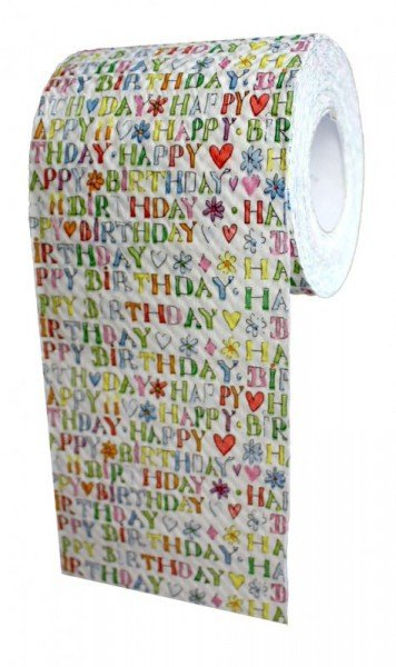 Toilettenpapier - Happy Birthday (1 Rolle)
