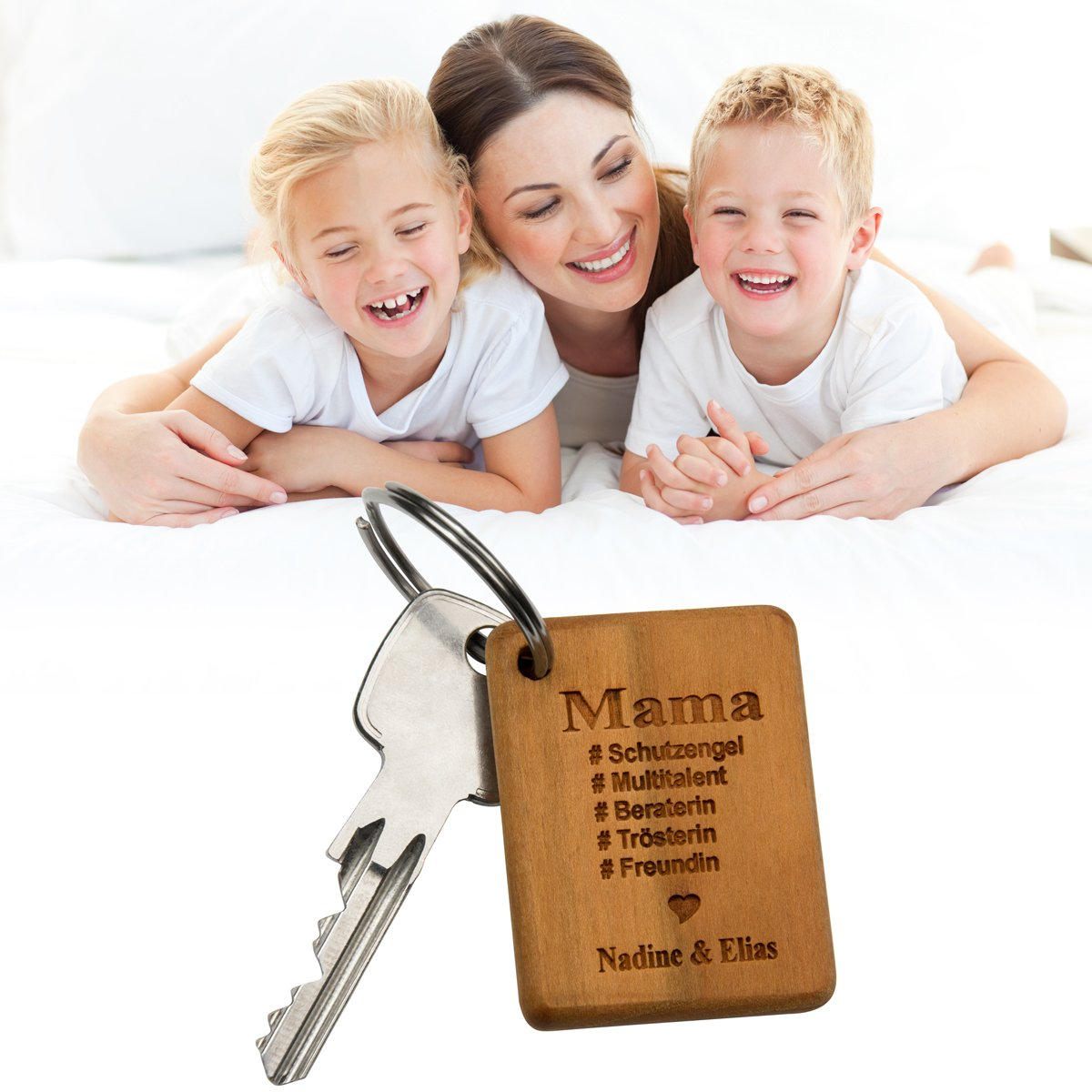 schl sselanh nger beste mama mit gravur. Black Bedroom Furniture Sets. Home Design Ideas