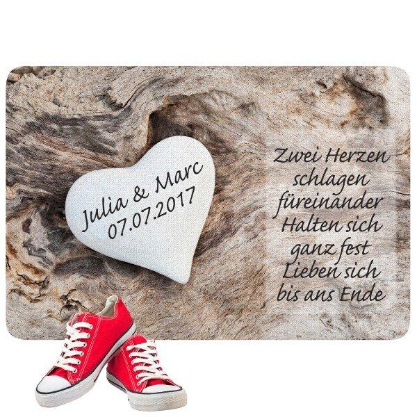 Fußmatte - Liebesherz