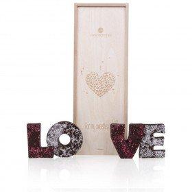 LOVE - Schokoladenbuchstaben Zartbitter