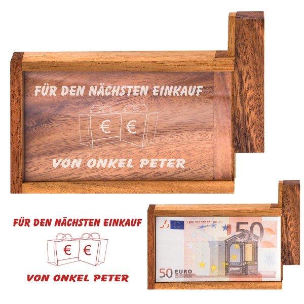 Magische Geldgeschenkebox - Für den nächsten Einkauf