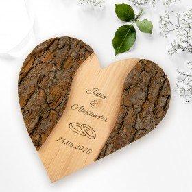 Holz-Herz - Hochzeit