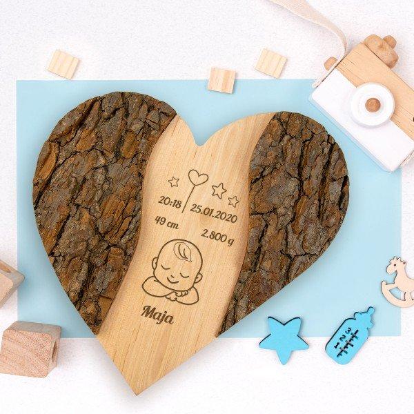 - Holz Herz Zur Geburt - Onlineshop Geschenke24