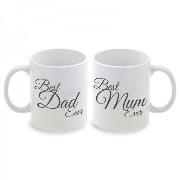 Tassen Set Best Mum / Best Dad