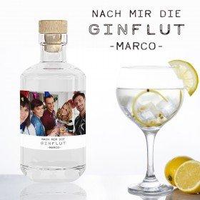 Gin mit Fotoetikett und Personalisierung