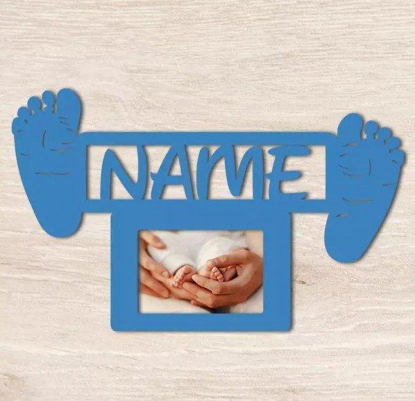 Individuellbabykind - Bilderrahmen Baby Fußabdruck mit Name - Onlineshop Geschenke24
