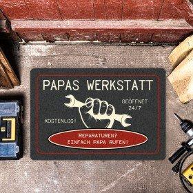 Fußmatte - Papas Werkstatt - grau