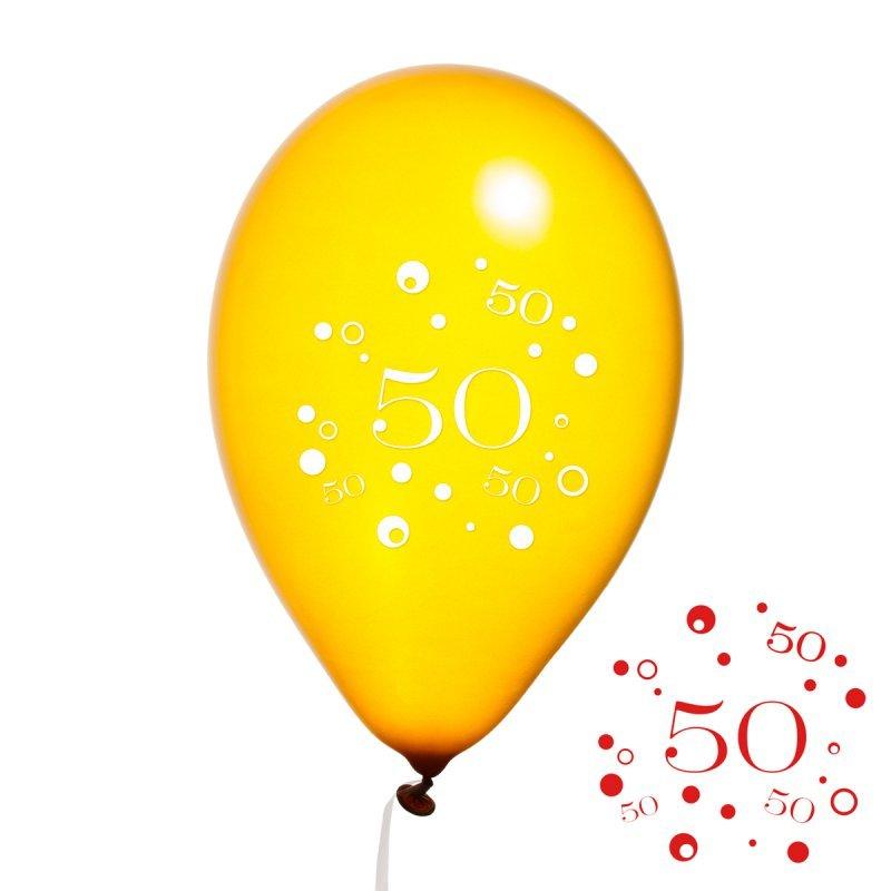 Luftballon Goldene Hochzeit