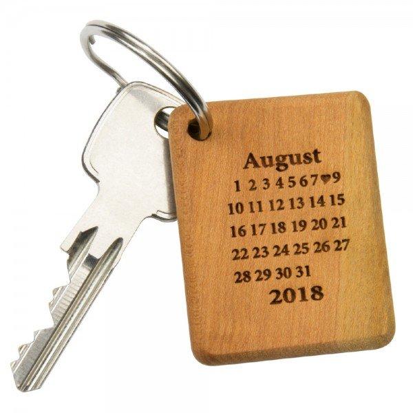 Schlüsselanhänger-Holzrechteck- Unendlichkeit1