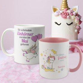 Tasse - die schönsten Einhörner mit Personalisierung