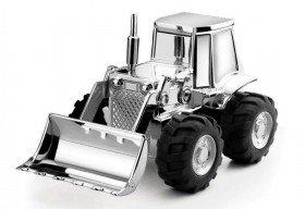 Spardose - Versilberter Traktor