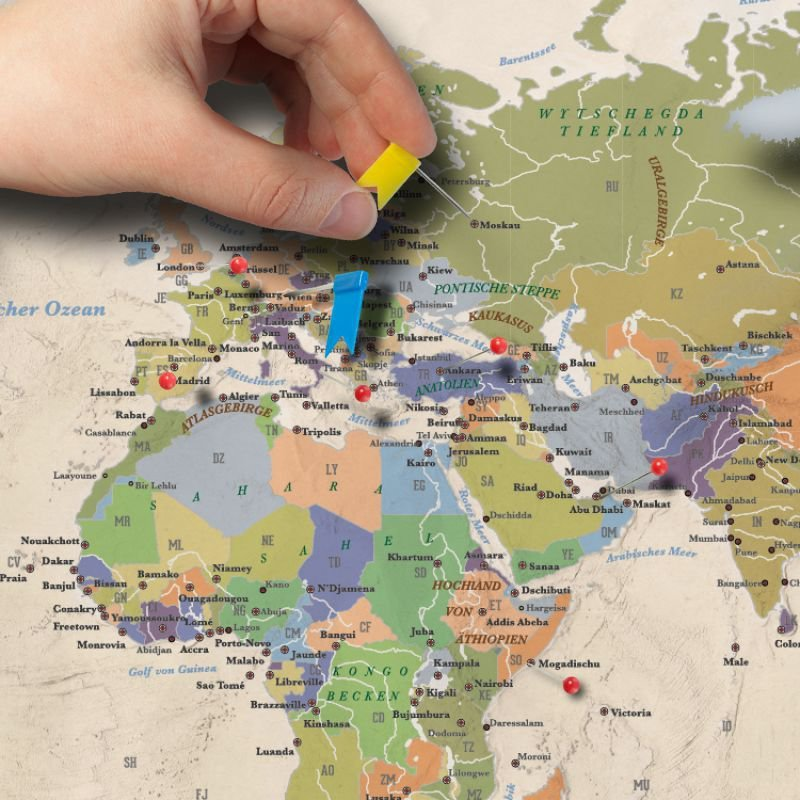 Luxus Weltkarte