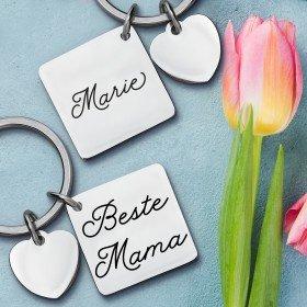 Schlüsselanhänger mit Herz - Beste Mama