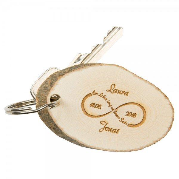 Schlüsselanhänger-Baumscheibe-unendlichkeit