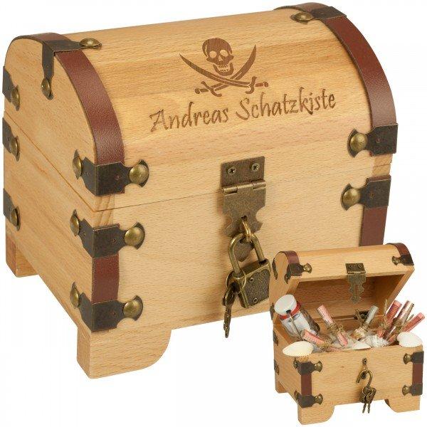 Schatztruhe - Piratenkopf