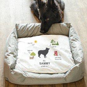 Hundebett - Ohne Hund ist alles doof