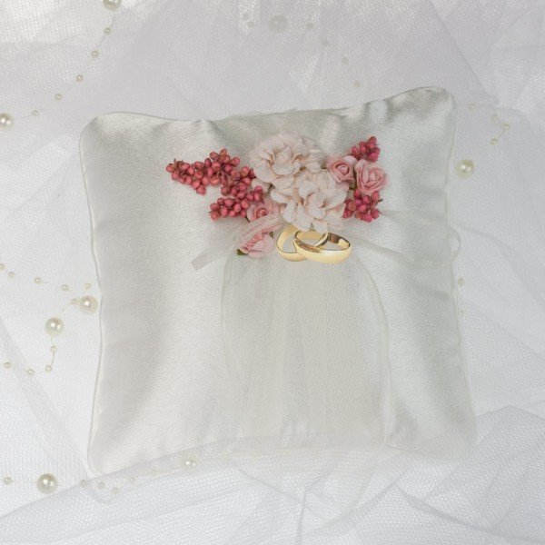 Ringkissen - Rosa Blümchen