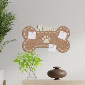 Pinnwand - Hundeknochen mit Personalisierung