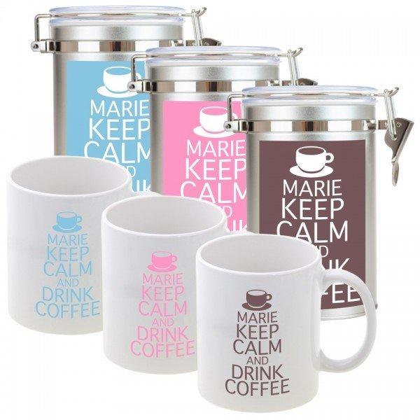 Kaffeedose - Keep calm and drink coffee