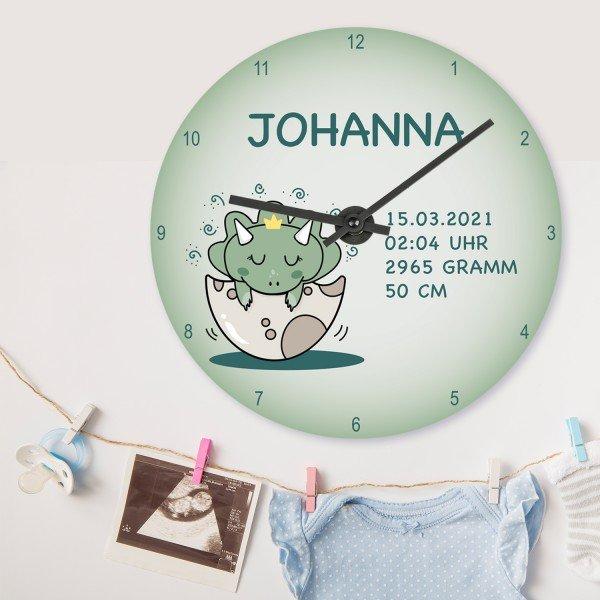 - Wanduhr zur Geburt mit Personalisierung - Onlineshop Geschenke24
