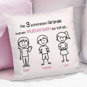 Kissen - Schönste Gründe zum Muttersein