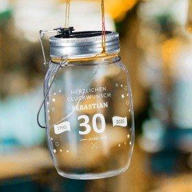 Solarglas zum Geburtstag