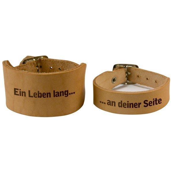 Partner Armband aus Leder 2er Set mit Gravur