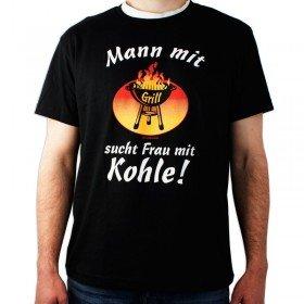 T-Shirt - Mann mit Grill