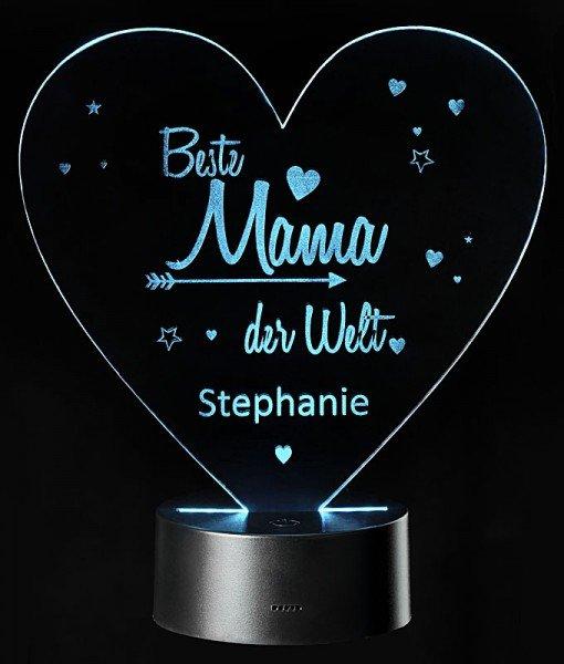 - LED Leuchte Beste Mama mit Personalisierung - Onlineshop Geschenke24