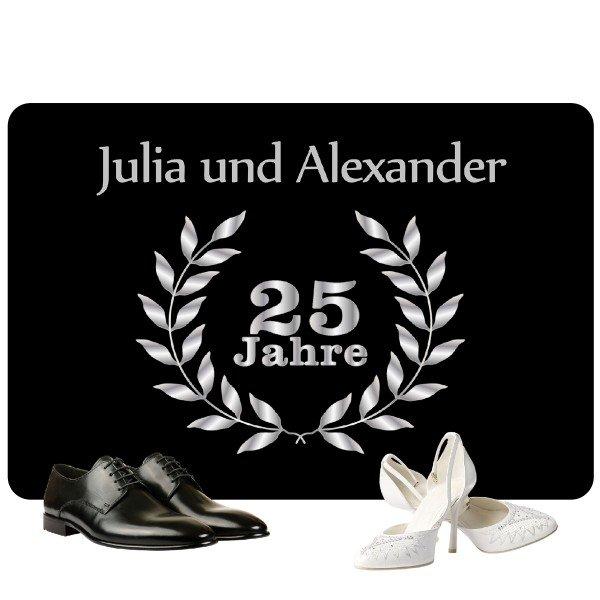 Fußmatte Silberhochzeit mit 2 Namen