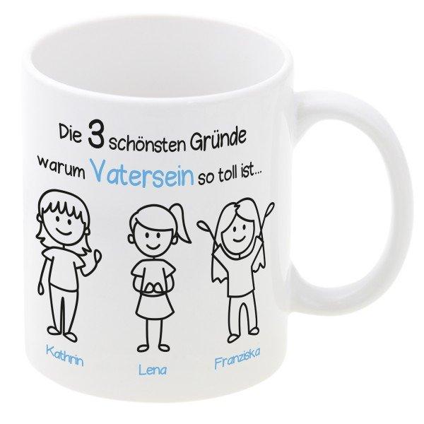 Tasse - Schönste Gründe zum Vatersein mit Personalisierung