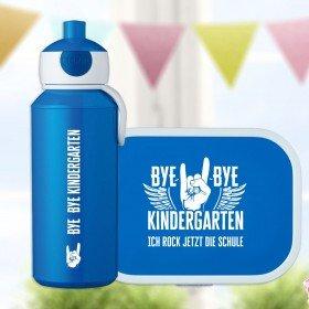 Bye Bye Kindergarten - Brotdose und Trinkflasche
