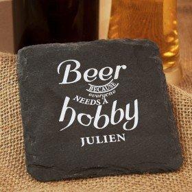 Schieferuntersetzer - Bier