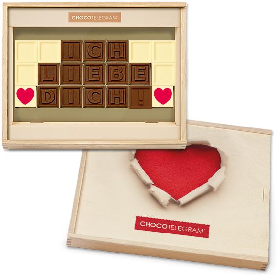 Chocotelegram - Ich liebe Dich mit Herz