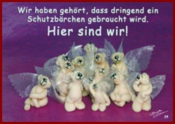 Postkarte Schutzbärchen