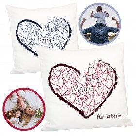 Kissen für Mama und Papa mit Personalisierung