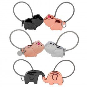 Schlüsselanhänger Schwein und Elefant