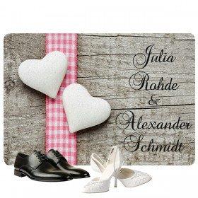 Fußmatte Romantik mit 2 Namen