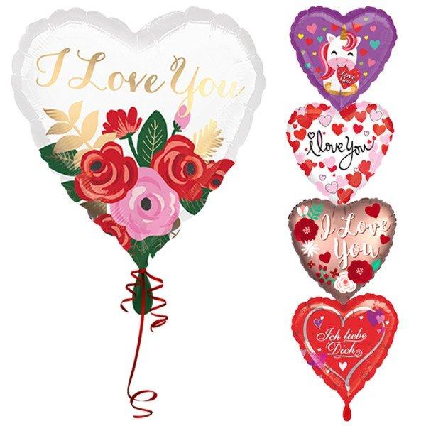 Romantische Ballons zum Valentinstag